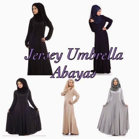 Jersey Umbrella Flair Abaya via Hijabi Style Fashion Shoppe. Click on the image to see more!