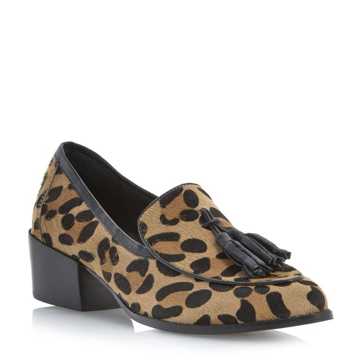 STEVE MADDEN TEATIME - Pony Tassel Loafer - leopard | Dune Shoes Online