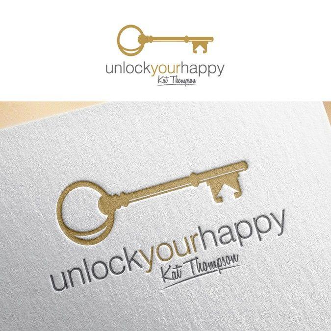 design a vintage key, with the slogan 'unlock your happy' Designers choose Real Estate & Mortgage by sesaldanresah