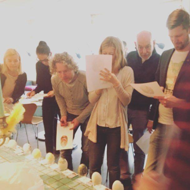 Stort engagemang vid årets påsktävlingar på byrån! #påskfirare #påskägg #påskfrukost #livetpåbyrå