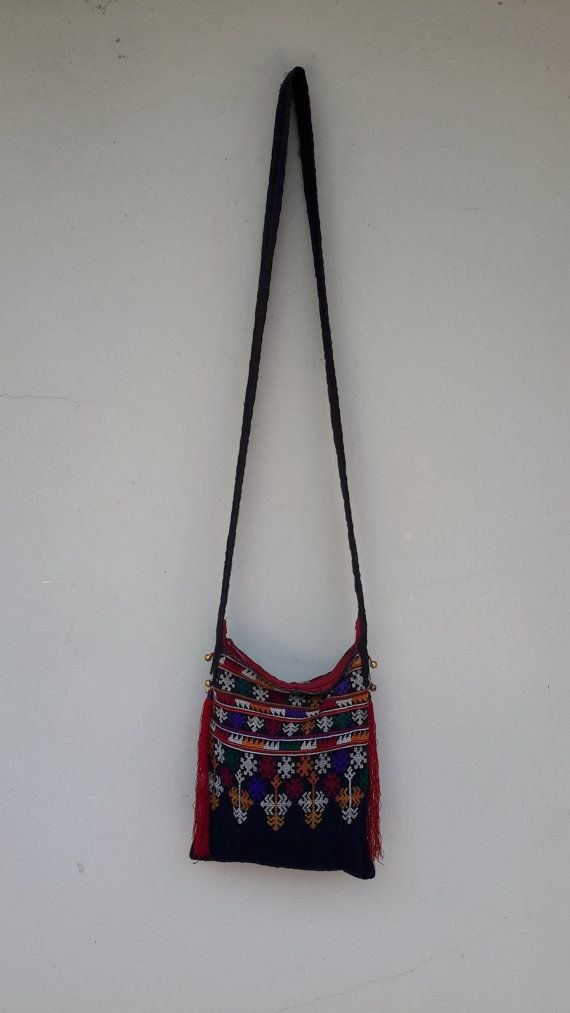 Embroidery Hmong Vintage Hemp Shoulder bag handmade by CoverRelax