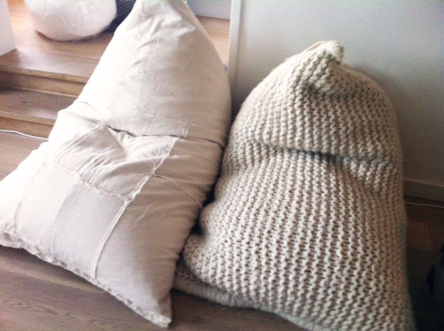 #Nest and her #cotton cousin #Patch! #Knitted #Beanbag #Cushion #Chair #Nepal # Fairtrade #Interior #Wool #Conscious #Friendly #Zilalila