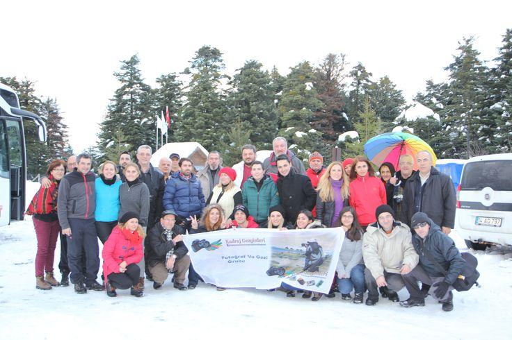 Kadraj Gezginleri Abat ve Gölcük Gölü kar manzarası fotoğraflamaya  gitti