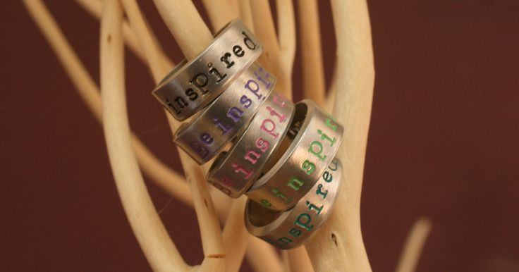 Cool ring with 'be inspired' text (made by Cotton Candies). Now on my site!