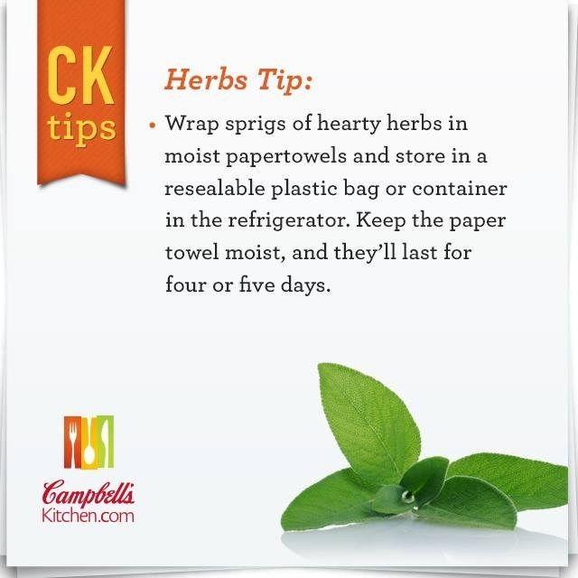 Herbs Tip   Campbellu0027s Kitchen