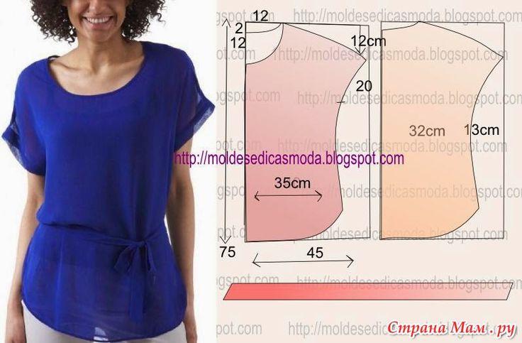 Как сшить быстро блузку