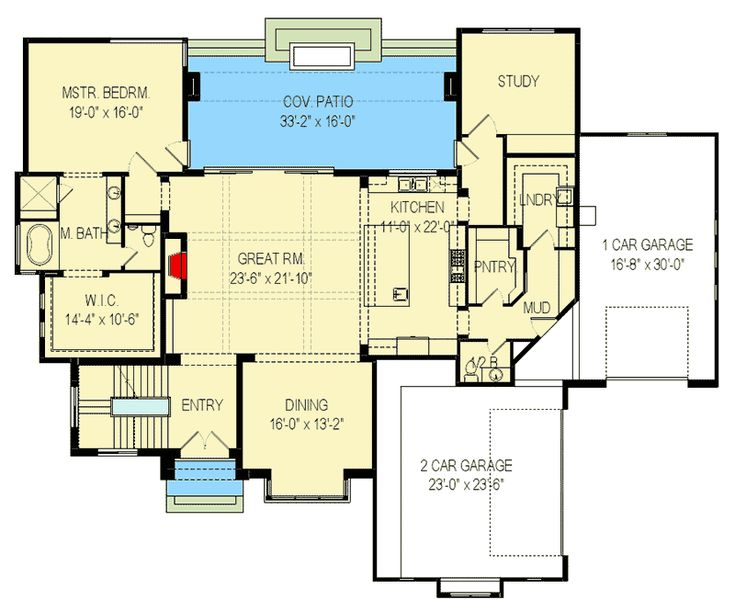 plan 290065iy for the sloping lot house plans floor