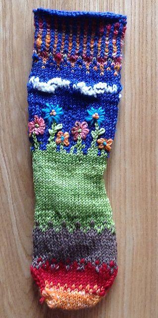 "Ravelry: BonnieBroussard's Girl's ""World at Her Feet"" Socks"