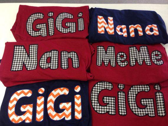 Appliquéd GiGi  Nana  MeMe  MiMi  etc by ThreeLittleMiracles, $25.00