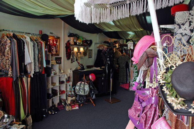 vintage clothes inside La Bella Donna store in Morningside