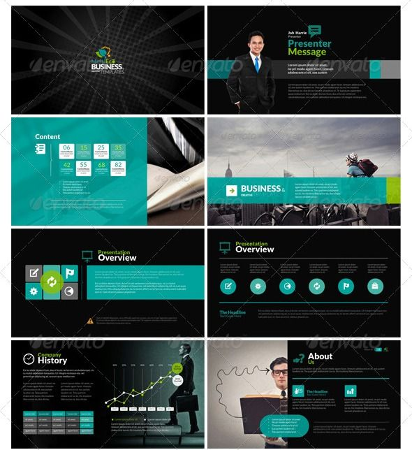 bunch of really professional and sleek ppt designs