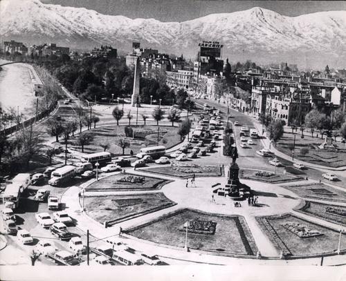 Plaza Baquedano, Santiago de Chile, 1964