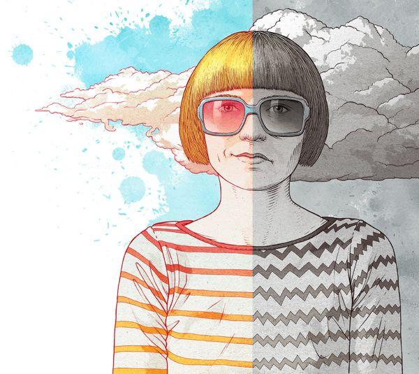 Positive thinking for Wysokie Obcasy Extra by Bartosz Kosowski, via Behance