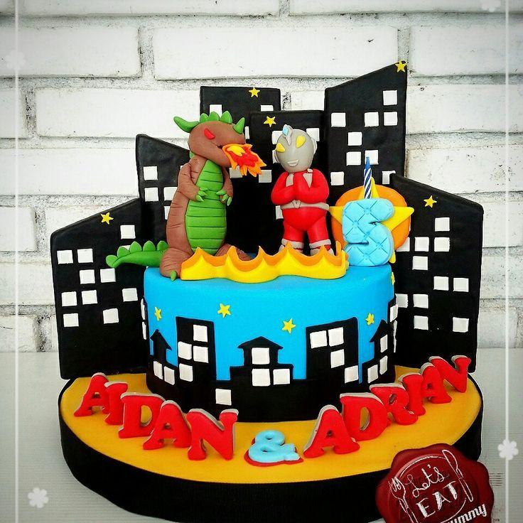 15 best Ultraman images on Pinterest Anniversary cakes Birthday