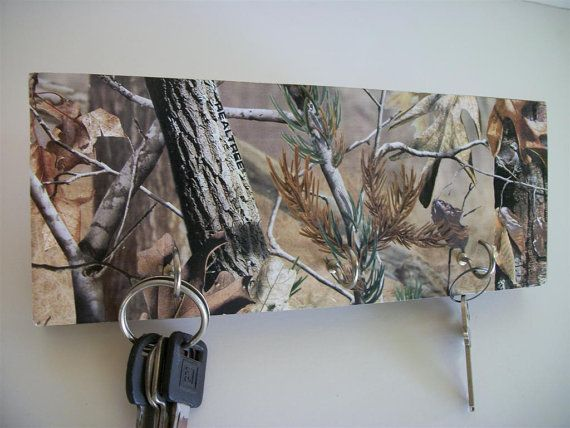 camoflauge+decor | Camouflaged Key Rack Camo Hunting Decor Real Tree by WoodnDoodads, $8 ...