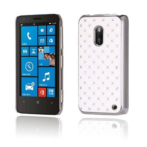 Stars (Valkoinen) Nokia Lumia 620 Suojakuori - http://lux-case.fi/stars-valkoinen-nokia-lumia-620-suojakuori.html