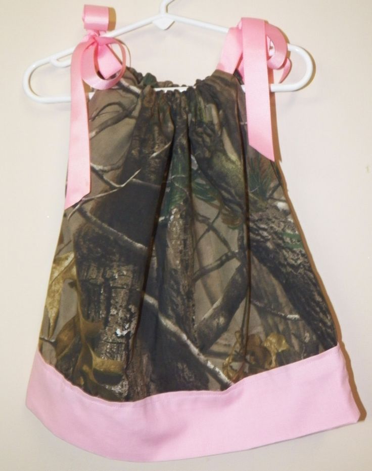 Love this dress, need to have one made!  Realtree Camouflage  Baby Girl Dress :)