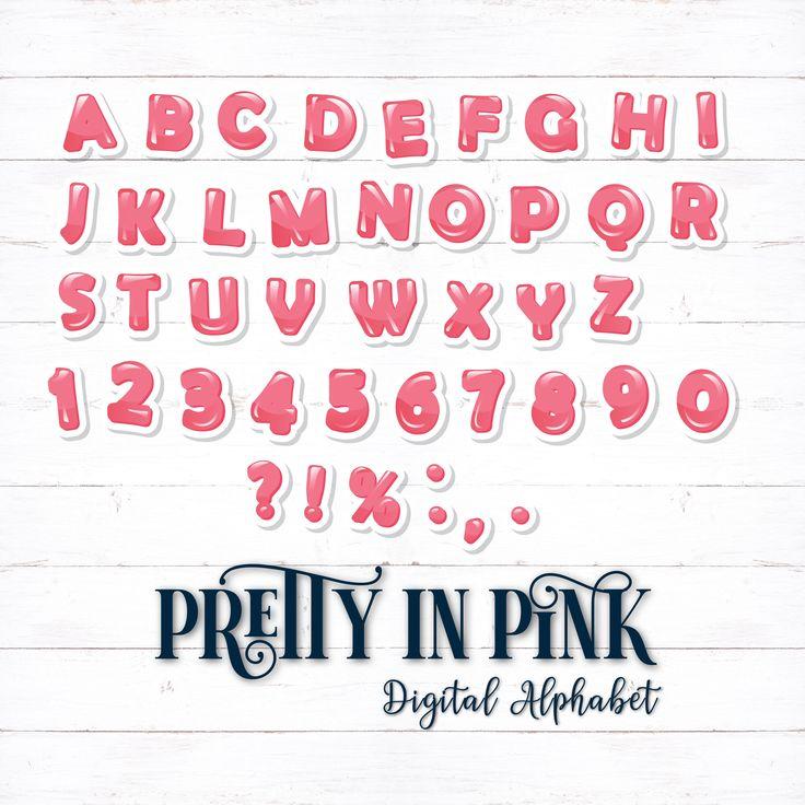 Printable Digital Alphabet Letters, Colorful Letters