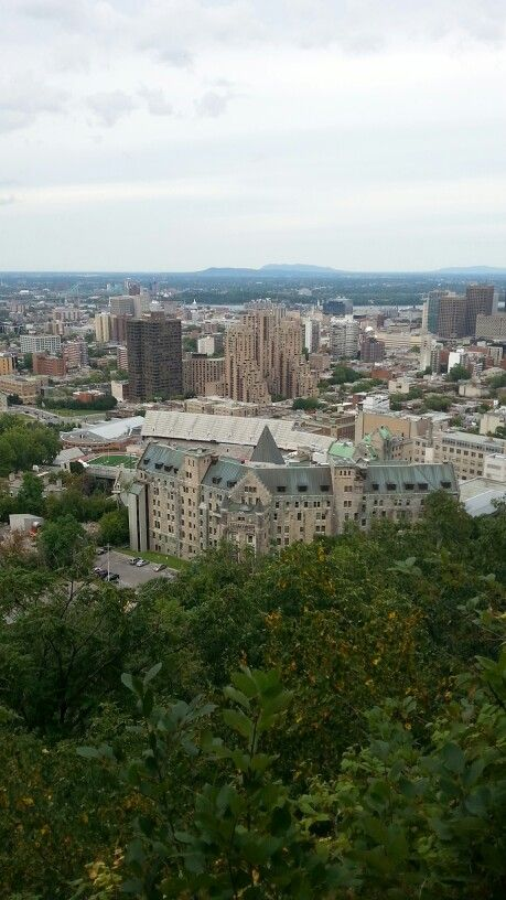 View of the Royal Victoria Hospital from Mont Royal, downtown  Montréal.