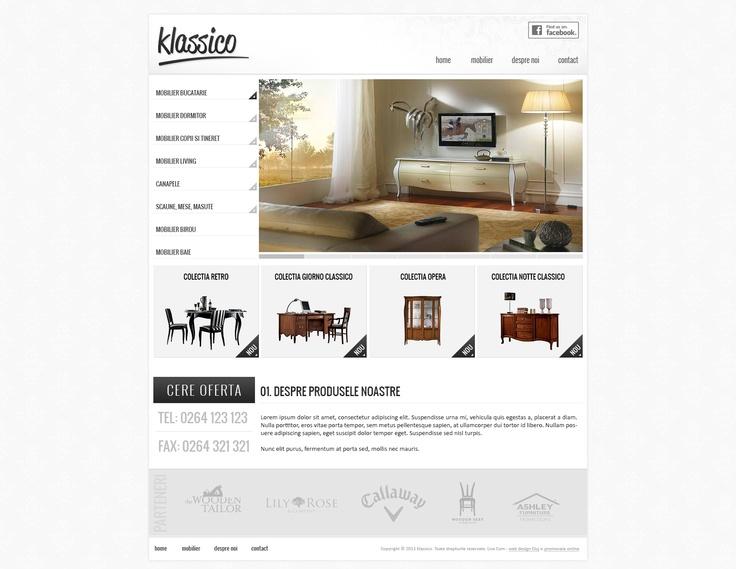 Klassico - a web design proposal