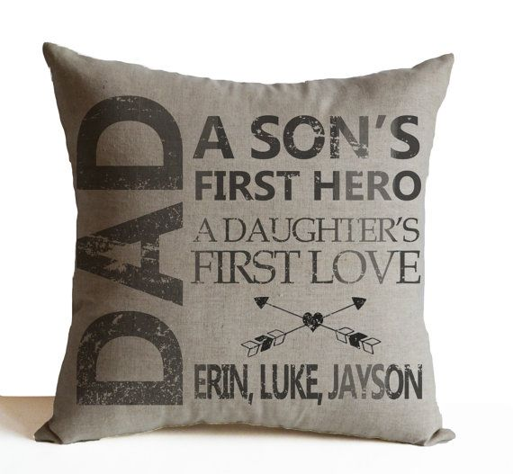 Personalize Pillow Case Fathers Day Pillow Gift for by AmoreBeaute