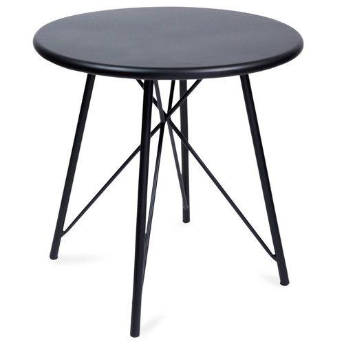 SCOTT metal side table, black W 45cm