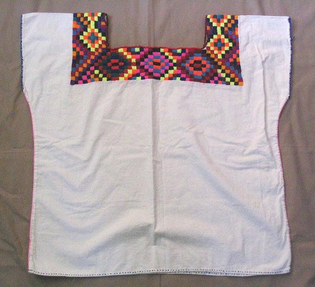 Chol Maya huipil from Chiapas   embroideri/Cross-stitched ...
