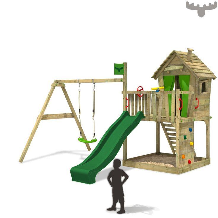 Cool Spielturm DonkeyDome Double XXL mit Schaukel Weitere Kinderspielger te findest du in unserem FATMOOSE Online Shop Tolles Design und g nstige Preise