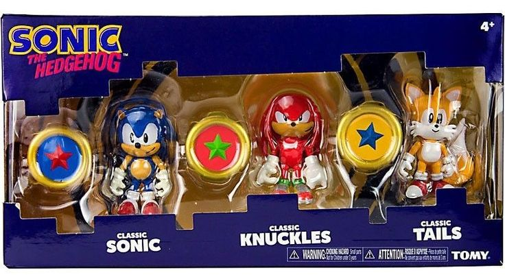 Sonic 158768: Sonic The Hedgehog Classic Figure 3 Pack Sonic Knuckles Tails Exclusive Rings -> BUY IT NOW ONLY: $59.99 on eBay!