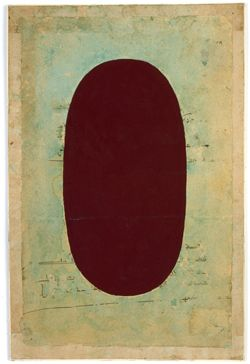 Anonymous tantric painting, Shiva Linga, 1969, Amber Unspecified paint on found paper. Courtesy of Douglas Hyde Gallery.