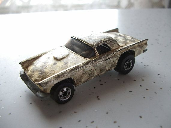 vintage Hot Wheels car  '57 Thunderbird in gold by ShoponSherman, $6.00