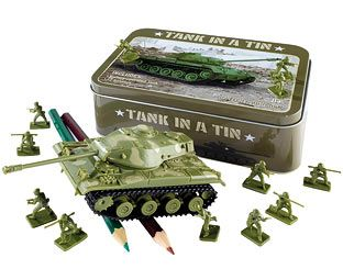 Original Gift Company Tank in a Tin, Plastic Appeal to their fighting spirit with this fantastic Tank in a Tin. An original gift for all ages, it comprises a miniature tank and 12 plastic soldiers, all in a keepsake tin you can take with you any http://www.MightGet.com/february-2017-2/original-gift-company-tank-in-a-tin-plastic.asp