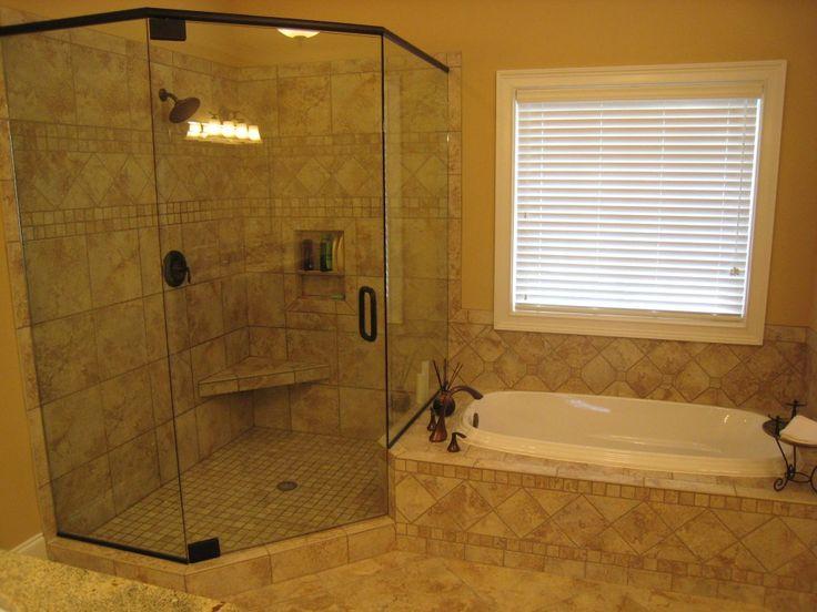 Big Walk In Shower Beside Bathtub Under Casual Window For Master Bathroom  Remodel26 best Bathroom Shower images on Pinterest   Bathroom showers  . Big Walk In Showers. Home Design Ideas