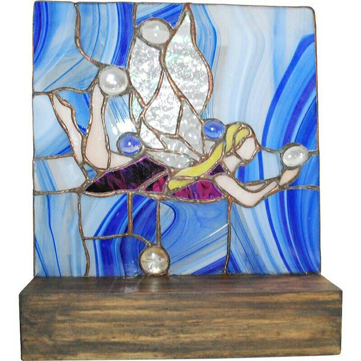 Sirena en vitral