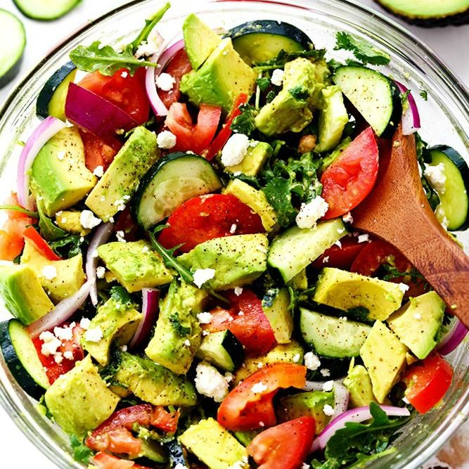 Avocado, Tomato and Cucumber Arugula Salad is fresh, delicious and light and packed with amazing flavor! Tossed in a tangy lemon glaze and topped with feta cheese, you won't be able to get enough! I am happy to report that I survived the move this weekend. Whoa. Moving is the most exhausting thing in the …