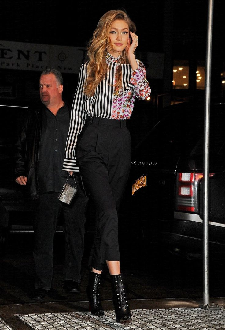 Gigi out and about in New York, January 11th.