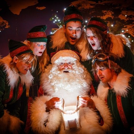 Father Christmas and his elves