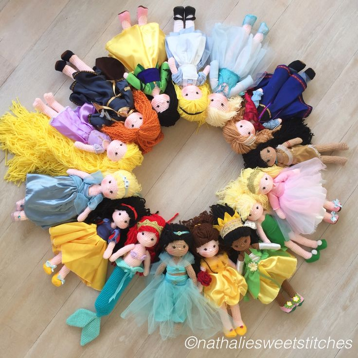 All your Amigurumi Disney princesses Www.nathaliesweetstitches.com