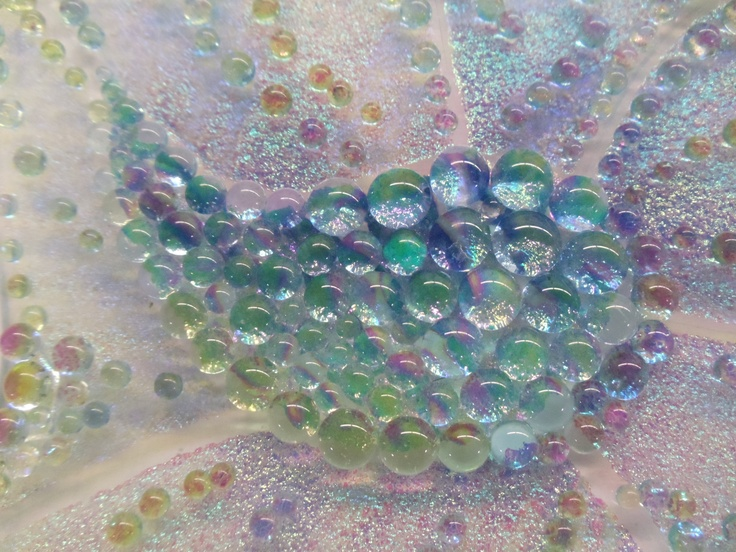 Dichroic frit amplified under frit balls stained glass