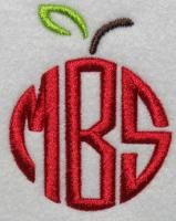 Apple Frame Monogram Embroidery Design | Apex Embroidery Designs, Monogram Fonts Alphabets