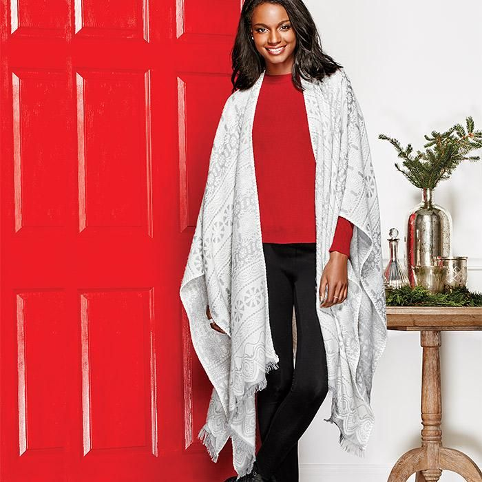 Luxurious Reversible Wrap | Avon Professional Women's Attire for Valentine's Day 2017 | Trending Fashions | Shop AVON online | www.youravon.com/ohiovalley | Fashion, Jewelry, Perfume, Cosmetics for a total look! #directsaleohio | StephanieGrams.com