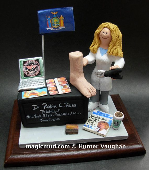 Podiatrist's Figurine  www.magicmud.com    1 800 231 9814    magicmud@magicmud.com $225  Personalized #Medical Gift Figurines, custom created just for you!    Perfect present for all #Doctors, a  heartfelt gift for birthdays, graduations, anniversaries, new office openings, retirement, as a thank you to a great #physician  Surgeon, cardiologist, therapist, nurse, ob-gyno, podiatrist, psychiatrist, nephrologist, urologist, radiologist, any occupation made to to order by #magicmud