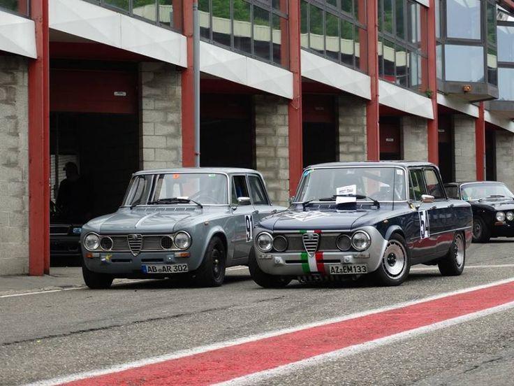 Two racing Alfa Romeo Giulia 1600 Super Quadrifoglio Alleggerita.