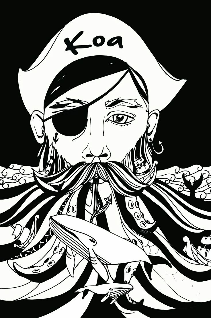 Mermaid tales book pirates ships whales and mermaids ink drawings illustration