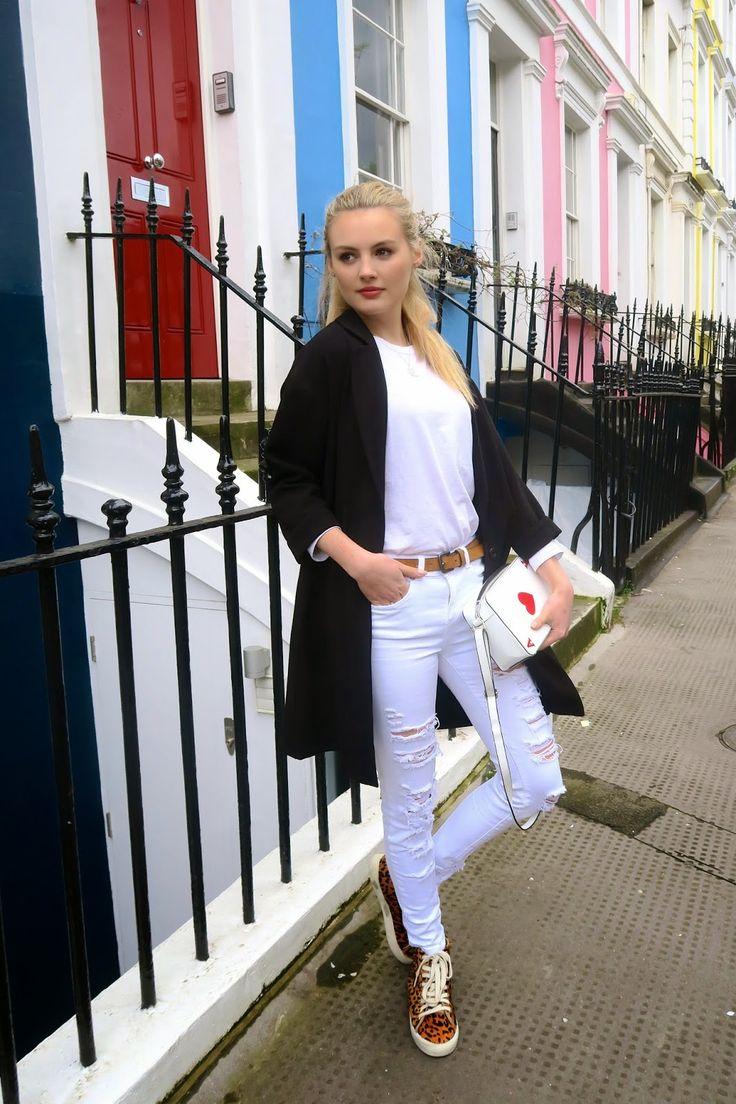 autumn // top- plain white t-shirt overlay- long black cardigan ...