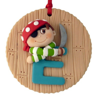 Pirate themed initial plaque