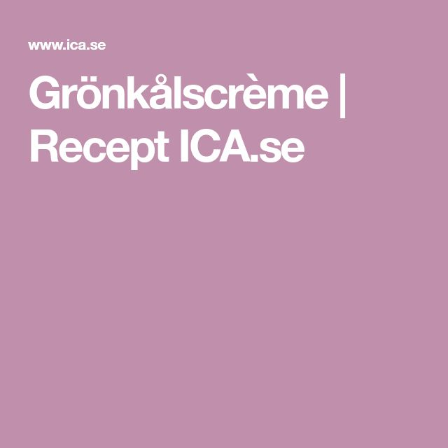 Grönkålscrème | Recept ICA.se