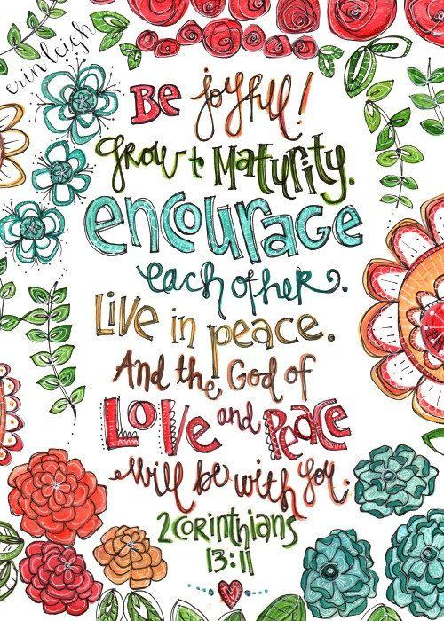 Scripture Wall Art Be Joyful 2 Corinthians 8 x by artbyerinleigh,