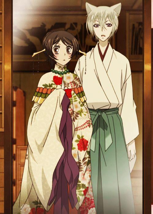 Kamisama Hajimemashita: Nanami and Tomoe. (I don't only ship yaoi couples. I also ship couples like these cx)