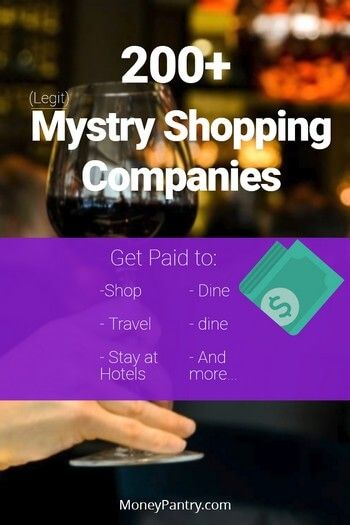 Become a mystery shopper for one of these legit companies and get paid to shop, dine, stay at hotels and more...